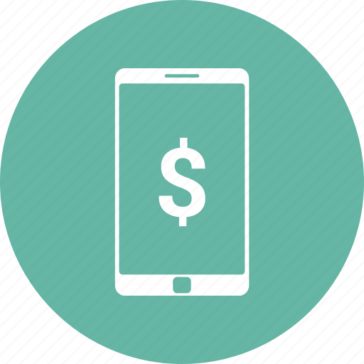 cell phone, doller, mobile, phone icon