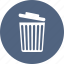 bin, can, garbage, trash icon