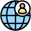 business, financial, global, internet, people, world icon