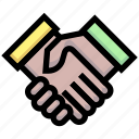 business, deal, financial, handshakes, investment, partner icon