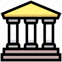 bank, building, business, courthouse, financial, government icon