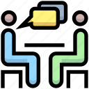 business, chatting, discussion, financial, meeting, office icon