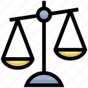 balance, business, financial, justice, law, scales icon