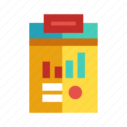 business report, information, note, paper, summary icon