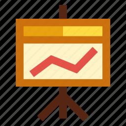 board, chart, diagram, graph, tripod icon