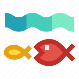 bigger fish, competition, food chain, predator, survival icon