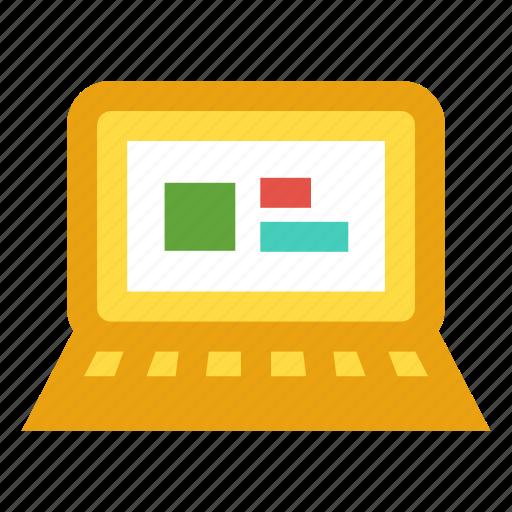data, info, input, monitor, statistic icon