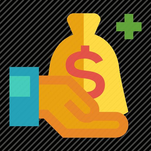 financing, fund rasing, investment, money, transaction icon