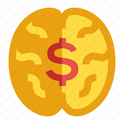 brain, greed, investor, millionaire mindset, money icon