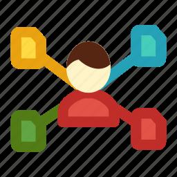 business, efficient, multitasking, productivity, work icon