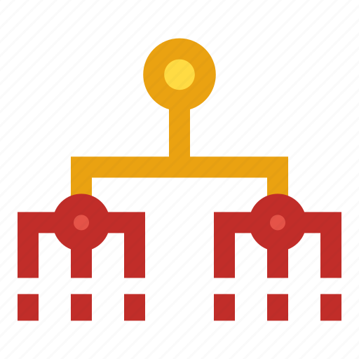 business, connection, networking, structure, team icon