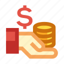 business, coin, money, payment, profits icon