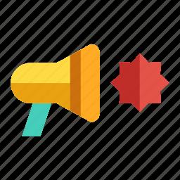 announcer, bullhorn, marketing, megaphone, promotion icon