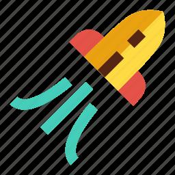 initiate, launch, rocket, startup, transportation icon