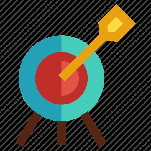 arrow, bullseye, mark, objective, target icon