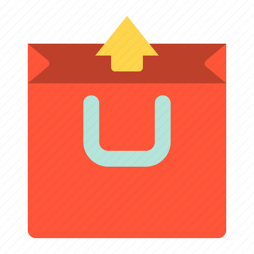 commerce, e, out, shopping, unpack icon