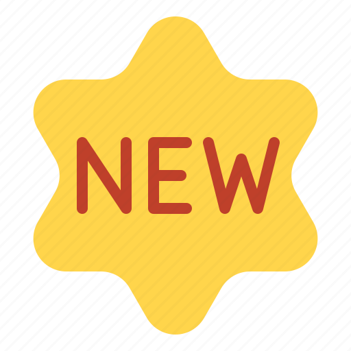 commerce, e, new, new product icon