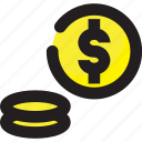 business, coin, dollar, finance icon
