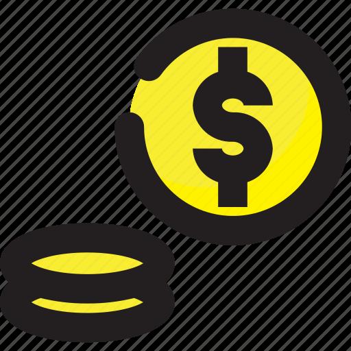 business, coin, dollar, finance icon