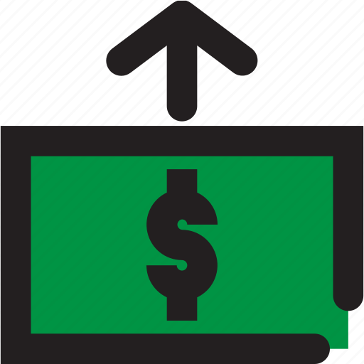 business, dollar, up icon