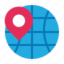 address, business, economics, global, globe, pin, position icon