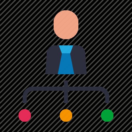 business, economics, organize, team icon