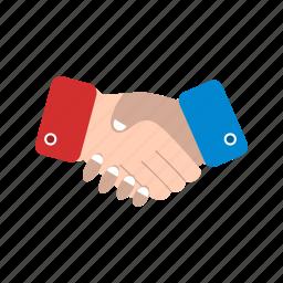 agreement, business deal, hand shake, handshake icon