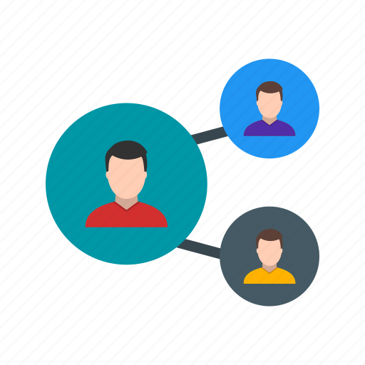 business, network, organization, team icon