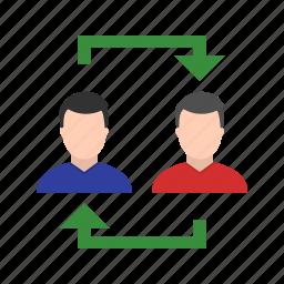 avatar, data, exchange, storage, transfer icon