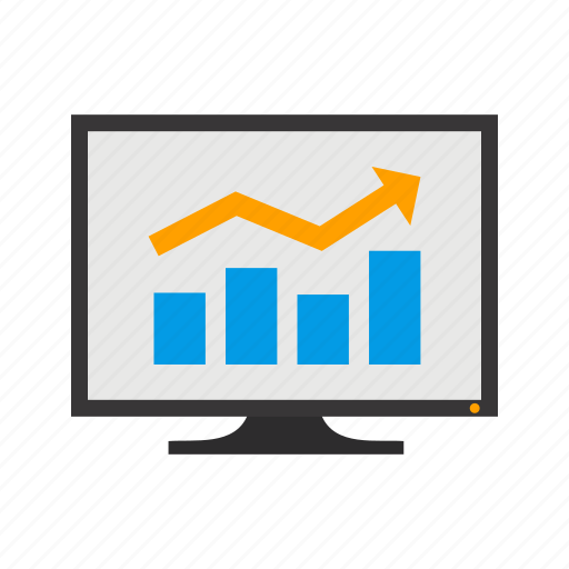 graph, growth, profit, promotion icon