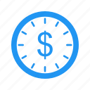 clock, time is money icon