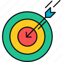 aim, arrow, direction, focus, goal, target icon