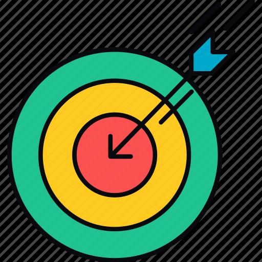 aim, arrow, direction, focus, goal, target icon