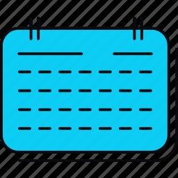 calendar, event, plan, schedule, timetable icon