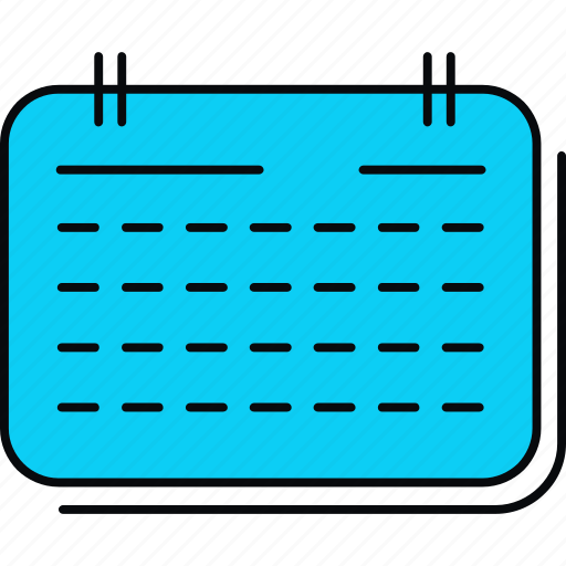 calendar, event, plan, schedule, timetable icon