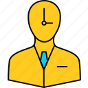 punctual, employee, plan, schedule, timer icon