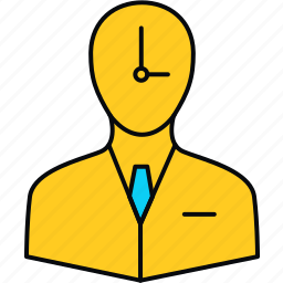 employee, plan, punctual, schedule, timer icon