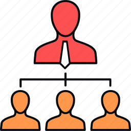 business, group, hierarchy, leader, marketing, structure, team icon