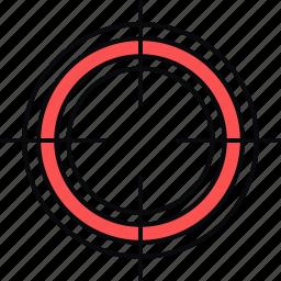 aim, focus, goal, target, view, zoom icon