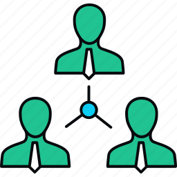 employee, employees, group, hierarchy, structure, team icon
