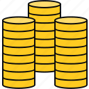 coins, finance, financial, money, payment icon