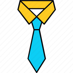 business, clothes, clothing, collar, formal, suit, tie icon