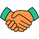 agreement, business, contract, deal, handshake icon
