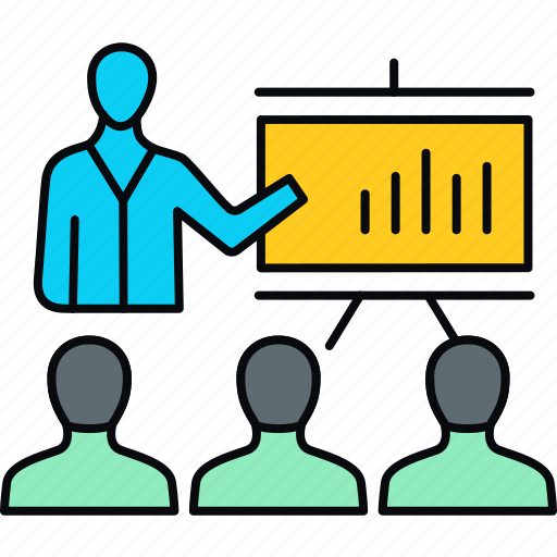 analytics, board, business, conference, meeting, presentation, report icon