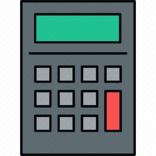 accounting, calculate, calculator, digital icon