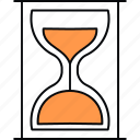 clock, commerce, hourglass, process, schedule, stopwatch, timer icon