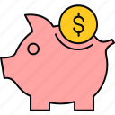 bank, cashback, finance, money, piggy, saving, savings icon