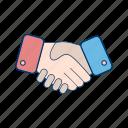 communication, hand, handshake, interaction, meeting icon