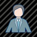 avatar, businessmen, man, person, profile icon