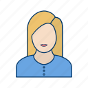 avatar, businesswomen, face, female, woman icon
